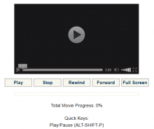 Accessible HTML5 Video Player with shortcuts