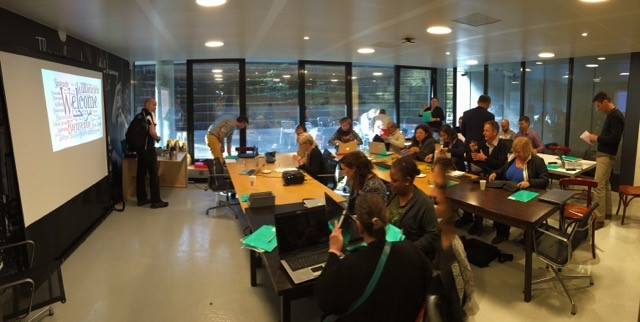 Workshop with translators during training of the Amara platform